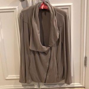 Grey diagonal zip sweatshirt gray